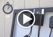 SolarEdge Power Optimizer - installed in 10 seconds with Accessory Frame Bracket
